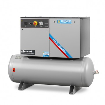 Creemers supergeluidgedempte zuigercompressor SGC (10 bar) op persluchtketel
