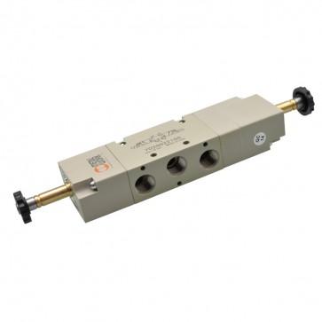 Metal Work elektrisch bediend 5/3 ventiel SOV serie 70