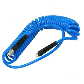 Prevost PU spiraalslang blauw